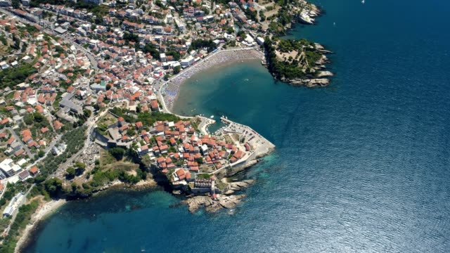 Aerial view of the old city of Ulcinj video