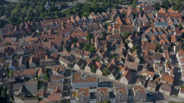 Aerial view of the old part of town from Bietigheim-Bissingen in Germany video