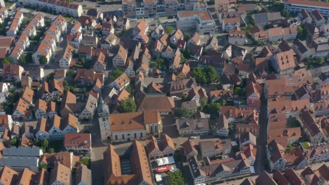 Aerial view of the old part of town from Bietigheim-Bissingen in Germany