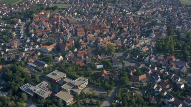 Aerial view of the old part of town from Markgröningen in Germany video