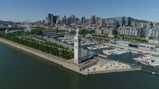 Aerial view of the Old Port of Montreal