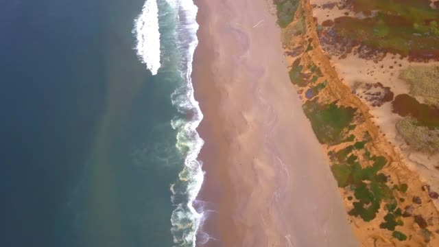 aerial view of the Pacific ocean