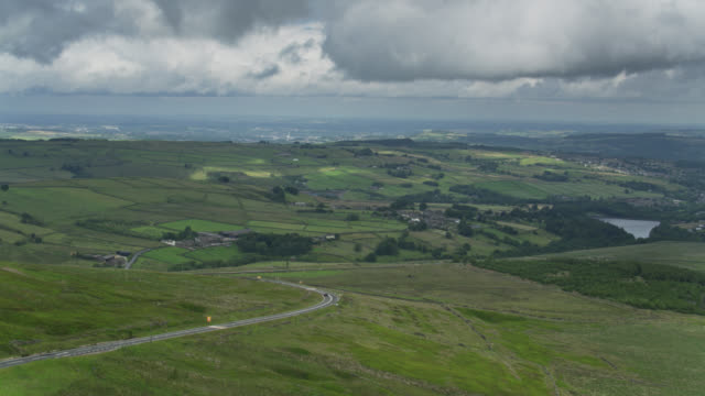 Aerial View of the Peak District, England - vídeo
