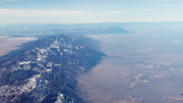 Aerial View (from Aircraft) of the Rocky Mountains and the Front Range of Colorado