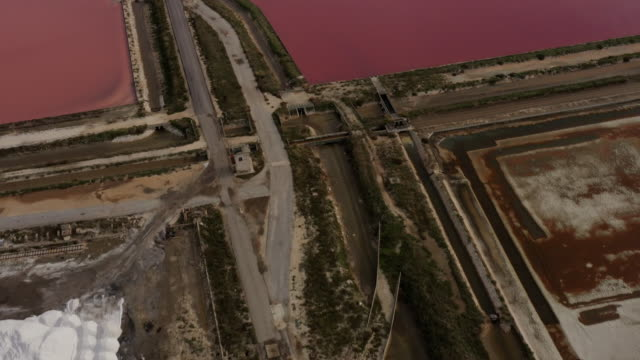 aerial view Of The Salt Pans Of Margherita Di Savoia video