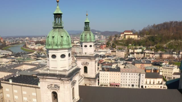 Aerial view of the Salzburg Cathedral