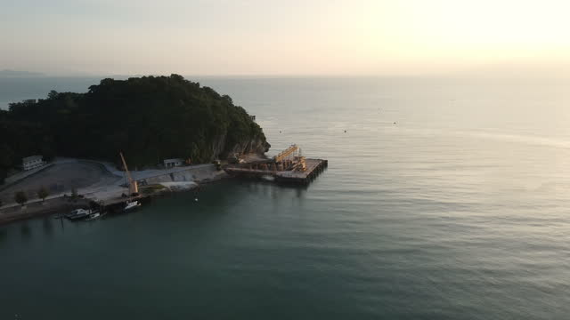 Aerial view of the sea on morning