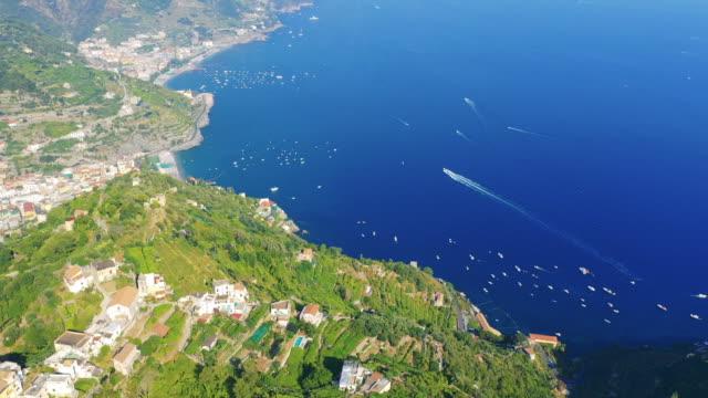 Aerial view of the stunning Amalfi Coast