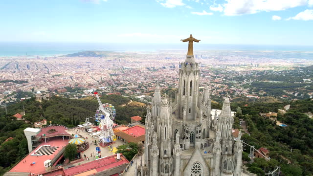 Aerial View of Tibidabo Monument video