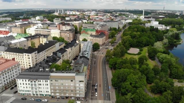 flygbild över tölö-kvarteret i helsingfors, finland - drone helsinki bildbanksvideor och videomaterial från bakom kulisserna