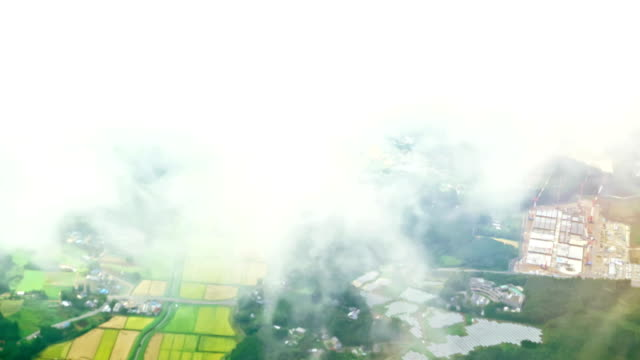 Aerial view of Tokyo on the plane video
