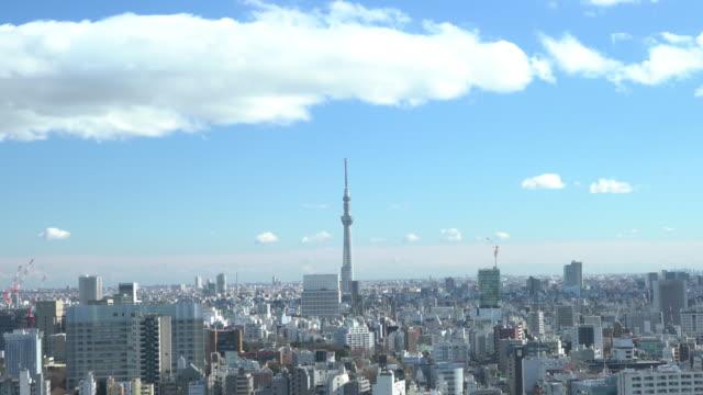 東京スカイツリーの空撮 - 東京タワー点の映像素材/bロール
