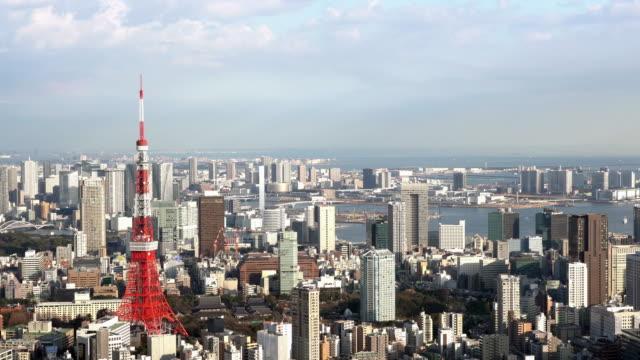 上空から見た東京のタワー - 東京タワー点の映像素材/bロール