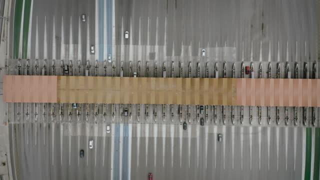 道路の航空写真ビュー - 州間高速道路点の映像素材/bロール