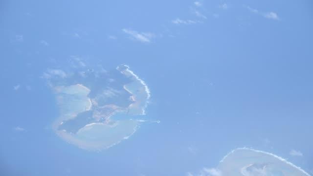 Aerial View of Tonaki island and Irisuna island in Okinawa, Japan video