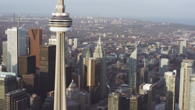 aerial view of toronto canada - toronto stock videos & royalty-free footage