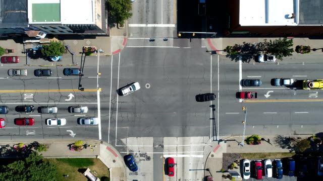 Aerial View of Traffic Intersection