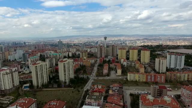 luftaufnahme der türkei hauptstadt ankara - ankara türkei stock-videos und b-roll-filmmaterial