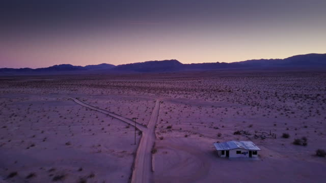 Aerial View of Twentynine Palms After Sunset video