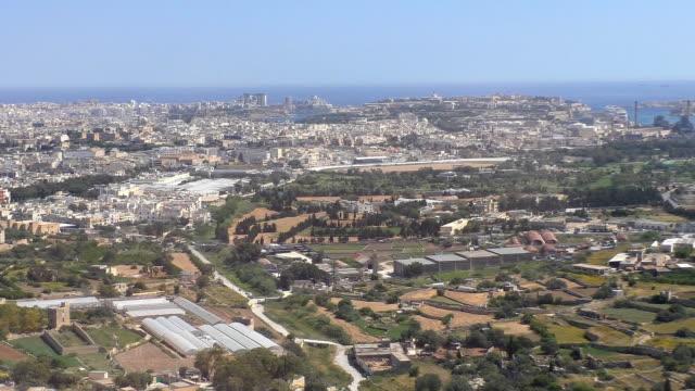 Aerial view of Valletta, Malta video