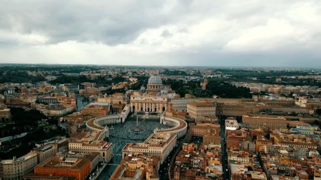 flygfoto över vatikanstaten - påve bildbanksvideor och videomaterial från bakom kulisserna