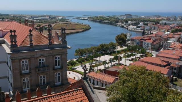 Aerial view of Vila do Conde city - Santa