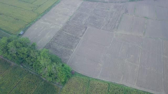 Aerial view of village in northern Thailand. video