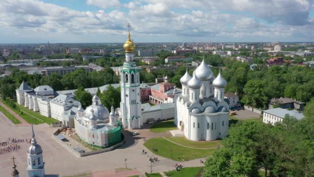 flygfoto över vologda kreml, ryssland - kreml bildbanksvideor och videomaterial från bakom kulisserna