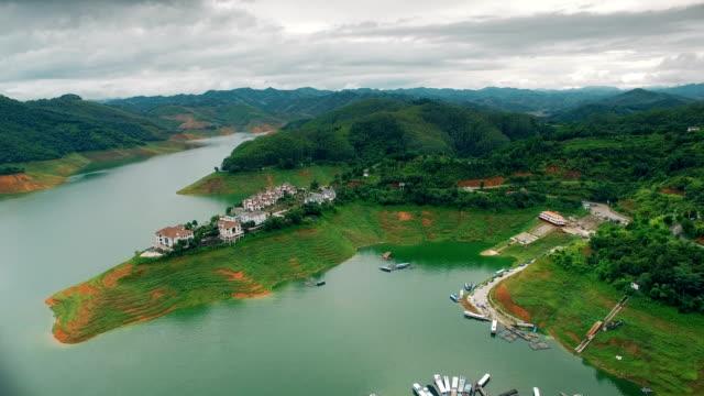 Aerial view of Wanfenghu lake,Guizhou,China.