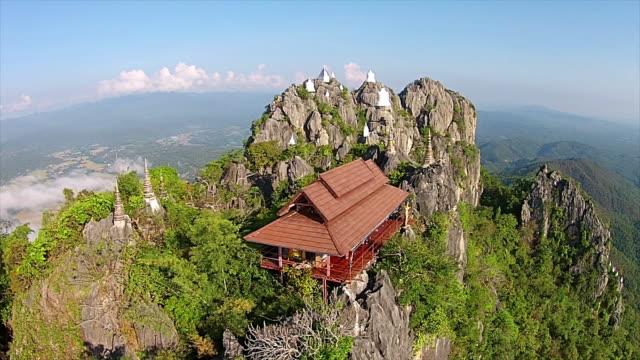 Aerial view of Wat Prajomklao Rachanusorn Thai Temple video