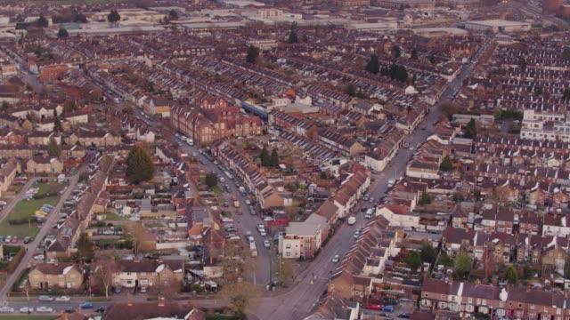 Aerial View of Watford, UK video