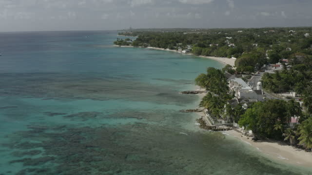 Aerial view of West Coast of Barbados (1) video