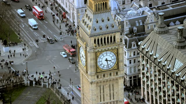 Aerial view of Westminster London City England video