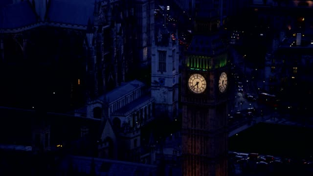 Aerial View of Westminster Parliament Building and Big Ben video