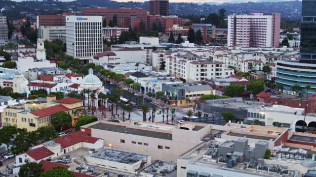 Aerial View of Westwood Plaza, Los Angeles video