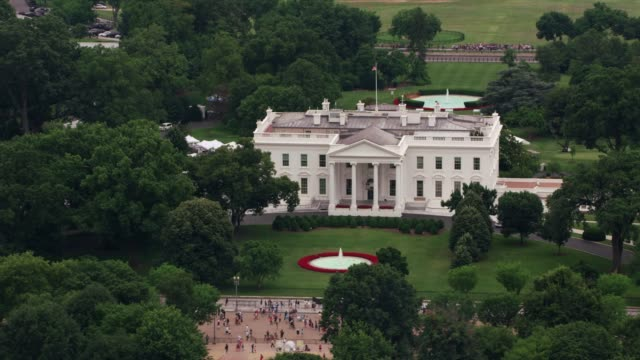 aerial view of white house. - governo video stock e b–roll