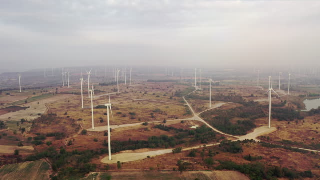 Aerial view of Wind Turbine