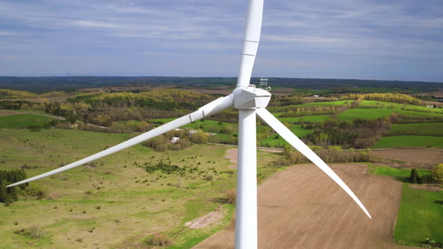 Aerial View of Wind Turbines video