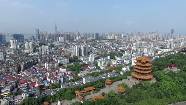 vídeos y material grabado en eventos de stock de vista aérea de la ciudad de wuhan, china - wuhan
