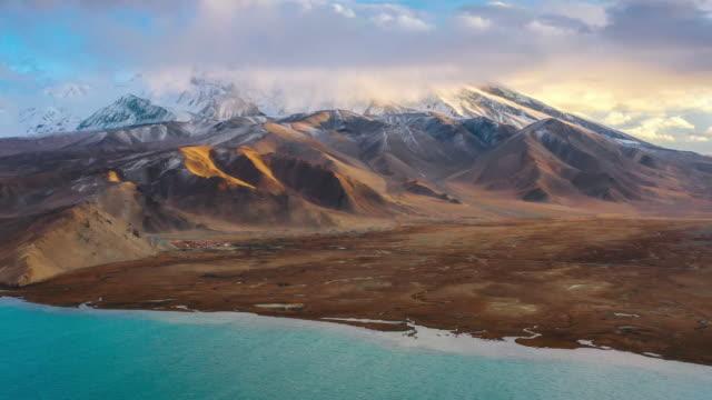 Aerial View Of Xinjiang Aerial View Of Xinjiang icecap stock videos & royalty-free footage