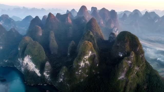 Aerial View Of Yangshuo