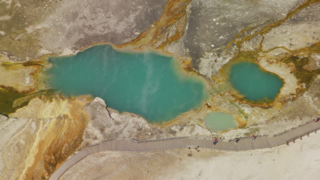 Aerial view of Yellowstone National Park