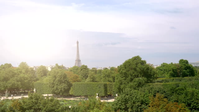 Aerial view on Eiffel Tower in Paris in 4k slow motion High quality video of aerial view on Eiffel Tower in Paris in 4k slow motion 60fps solid stock videos & royalty-free footage