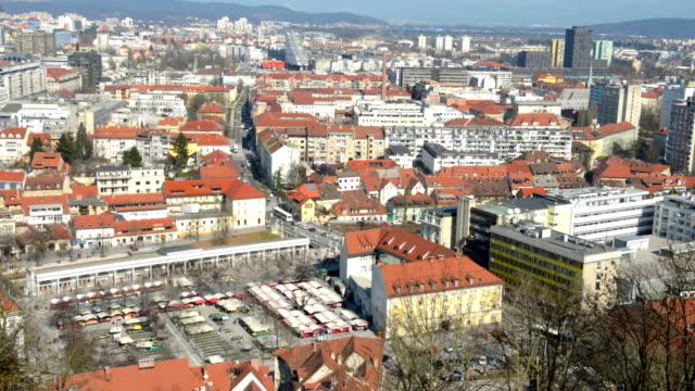 Aerial view on Ljubljana video