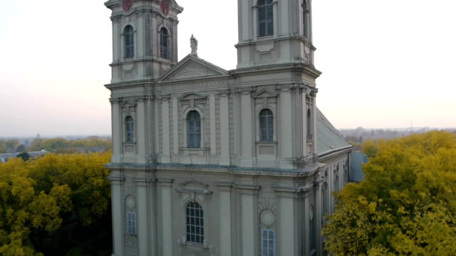 Aerial view on orthodox church video