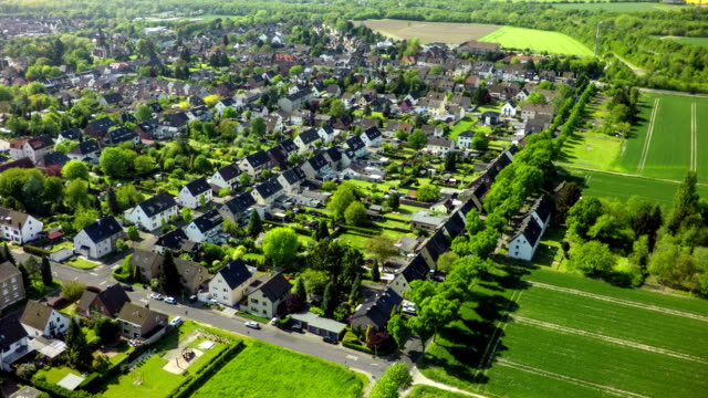 Aerial view on Village in Germany video