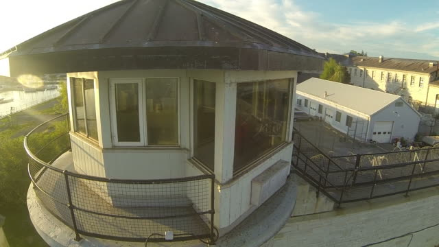 Aerial View over Abandoned Prison video