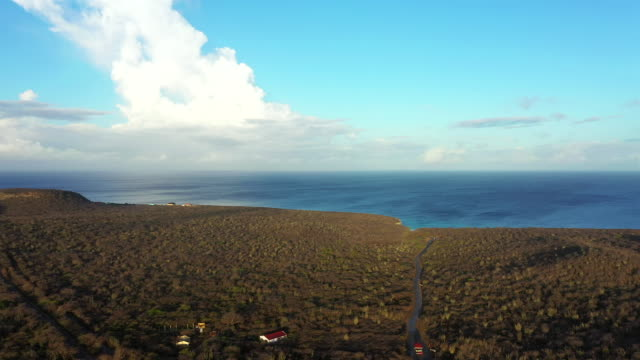 Aerial view over area Knip on the western side of  Curaçao/Caribbean /Dutch Antilles Aerial over Curacao /Caribbean /Netherland Antilles leeward dutch antilles stock videos & royalty-free footage