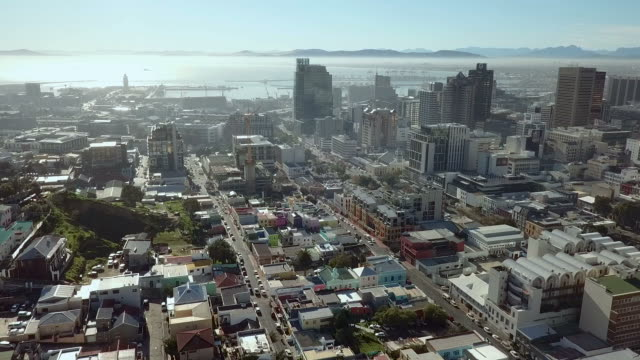 Aerial view over Cape Town, South Africa Aerial view of the city of Cape Town, South Africa table mountain national park stock videos & royalty-free footage