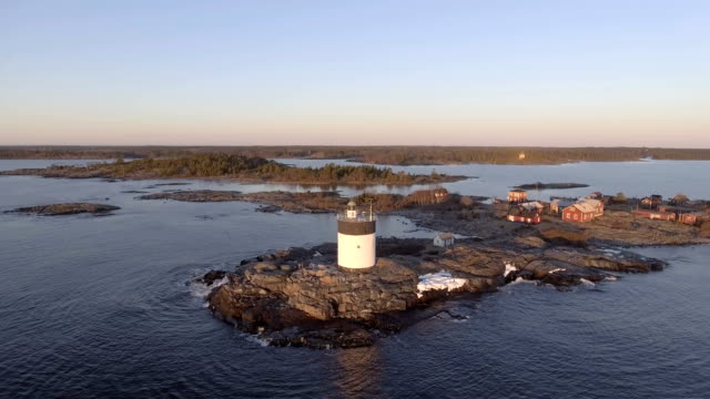 Aerial View over Lighthouse video